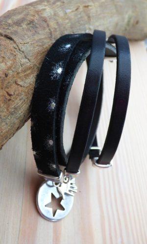 Bracelet Galaxy cuir histoiredereves 37€