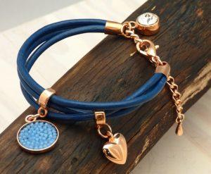Bracelet histoiredereves cuir rond swarovski 37€