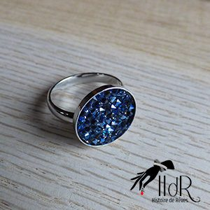 bague swarovski cristal moonlight bleu