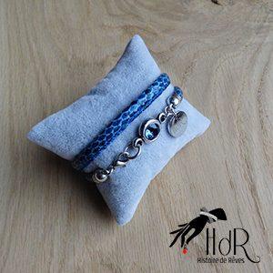 bracelet Aurélie bleu