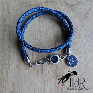 bracelet Aurélie bleu fait main HdR