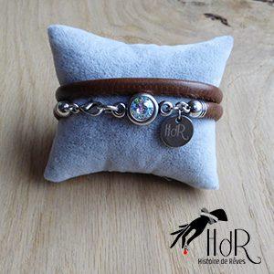 bracelet aurélie marron