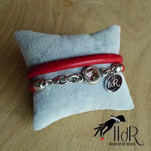 bracelet aurélie rouge