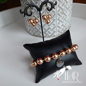 Bijoux Swarovski Perles rose gold