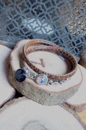 bracelet aureli serpent brun