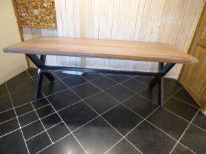 table métal et chene