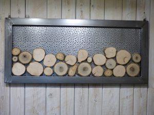 tableau de rondins de bois